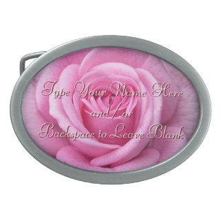 La hebilla del cinturón color de rosa personaliza  hebilla cinturón oval