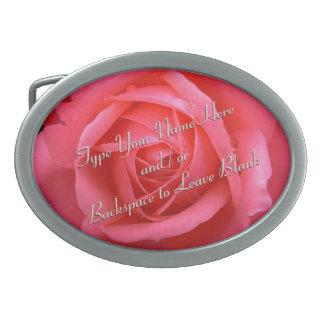 La hebilla del cinturón color de rosa personaliza  hebilla de cinturon