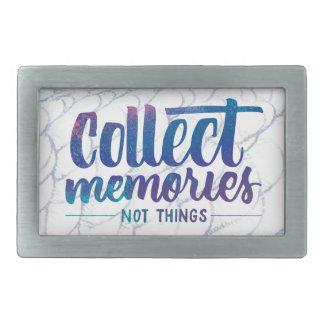 """la hebilla del cinturón con """"recoge las memorias"""" hebilla de cinturón rectangular"""
