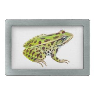 La hebilla del cinturón de la rana de leopardo hebilla cinturon rectangular
