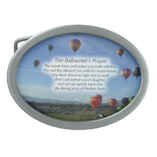 La hebilla del cinturón del rezo del Balloonist Hebilla Cinturón