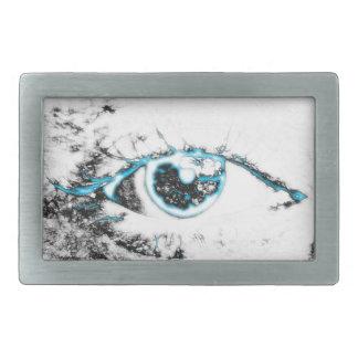 La hebilla del cinturón Empathic del ojo Hebillas De Cinturón Rectangulares