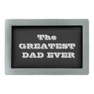 La hebilla del cinturón más grande del papá nunca hebilla cinturon rectangular