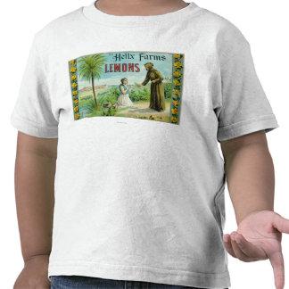 La hélice cultiva el limón LabelSan Diego, CA Camisetas