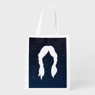 La hembra escoge el pictograma bolsas reutilizables