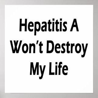 La hepatitis A no destruirá mi vida Poster