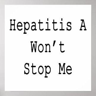 La hepatitis A no me parará Posters