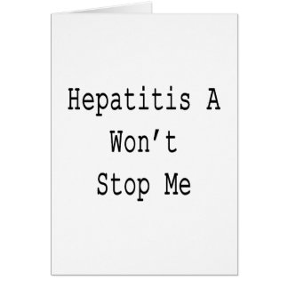 La hepatitis A no me parará Tarjeta Pequeña