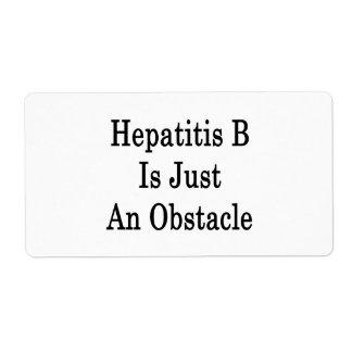 La hepatitis B es apenas un obstáculo Etiqueta De Envío