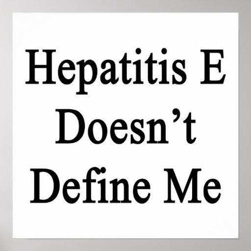 La hepatitis E no me define Impresiones