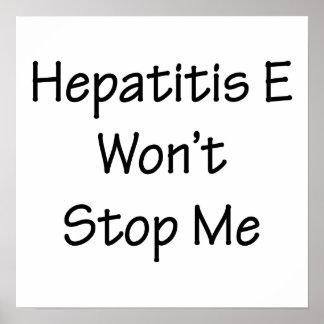 La hepatitis E no me parará Posters
