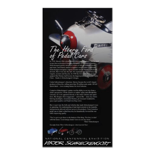 La herencia del coche del pedal de Victor Schrecke Poster