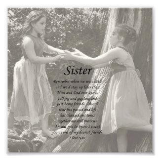 La hermana de dos niñas le agradece impresión de l fotografía