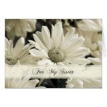 La hermana de las flores blancas le agradece tarje