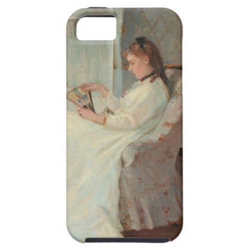 La hermana del artista en una ventana, 1869 iPhone 5 Case-Mate fundas