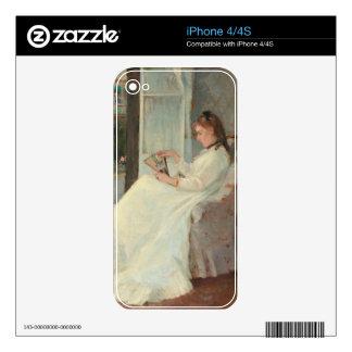 La hermana del artista en una ventana, 1869 iPhone 4S skin