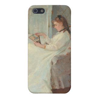 La hermana del artista en una ventana, 1869 iPhone 5 fundas