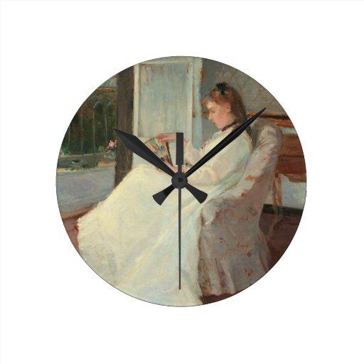 La hermana del artista en una ventana, 1869 relojes