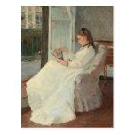La hermana del artista en una ventana, 1869 postales