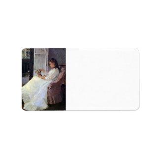 La hermana del artista en una ventana por Morisot Etiqueta De Dirección