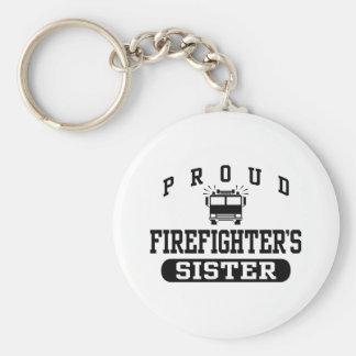 La hermana del bombero llavero redondo tipo pin