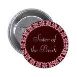 La hermana del rosa de la novia florece la identif pin