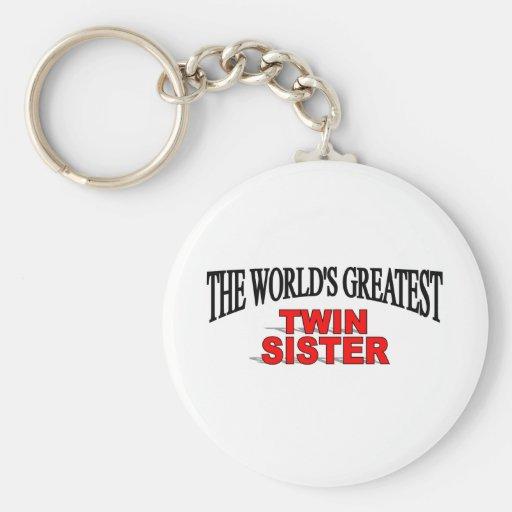 La hermana gemela más grande del mundo llavero