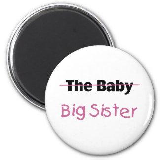 La hermana grande del bebé imán redondo 5 cm