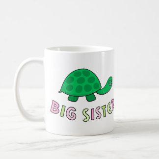 La hermana grande embroma la taza, la tortuga taza clásica