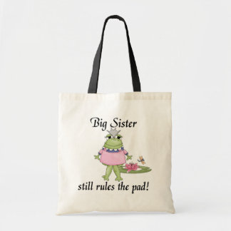 La hermana grande gobierna las camisetas del cojín bolsa