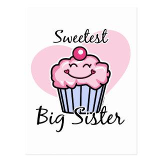 La hermana grande más dulce tarjetas postales