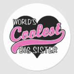 La hermana grande más fresca del mundo pegatina redonda