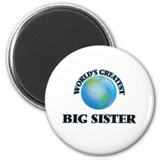 La hermana grande más grande del mundo imán redondo 5 cm