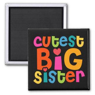 La hermana grande más linda imán cuadrado