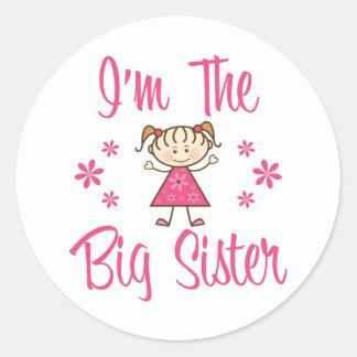 La hermana grande pegatina redonda