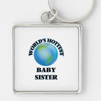 La hermana más caliente del bebé del mundo llaveros personalizados