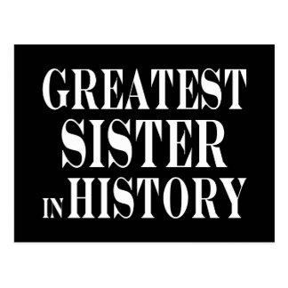 La hermana más grande de las mejores hermanas en tarjeta postal