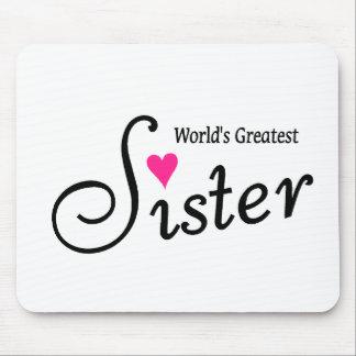 La hermana más grande de los mundos alfombrilla de ratones