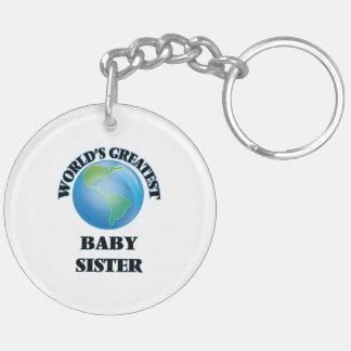 La hermana más grande del bebé del mundo llavero