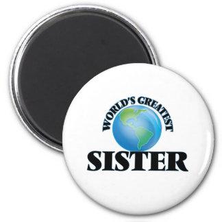 La hermana más grande del mundo imán redondo 5 cm