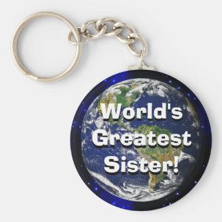 ¡La hermana más grande del mundo! Llavero