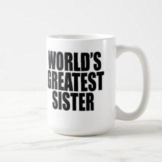 La hermana más grande del mundo taza básica blanca
