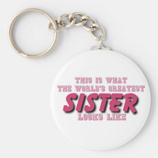 La hermana más grande llavero personalizado