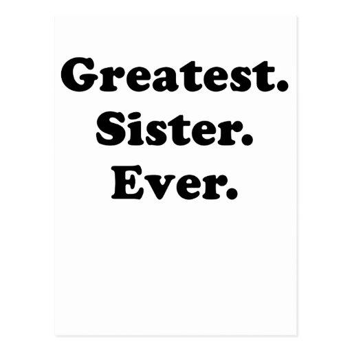 La hermana más grande nunca postales