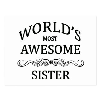 La hermana más impresionante del mundo tarjeta postal