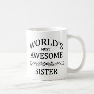 La hermana más impresionante del mundo tazas