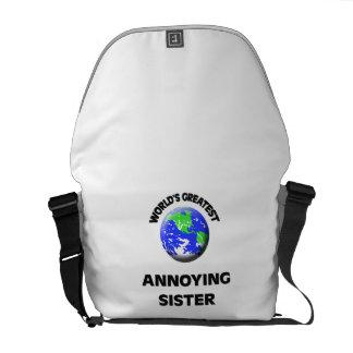 La hermana molesta más grande del mundo bolsas de mensajería