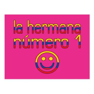La Hermana Número 1 - Number 1 Sister Ecuadorian Postcard