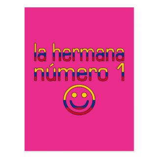 La Hermana Número 1 - Number 1 Sister in Colombian Postcard
