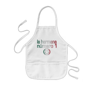 La Hermana Número 1 - Number 1 Sister in Mexican Kids' Apron